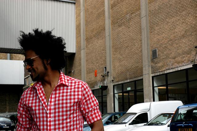 Gingham Man on Street
