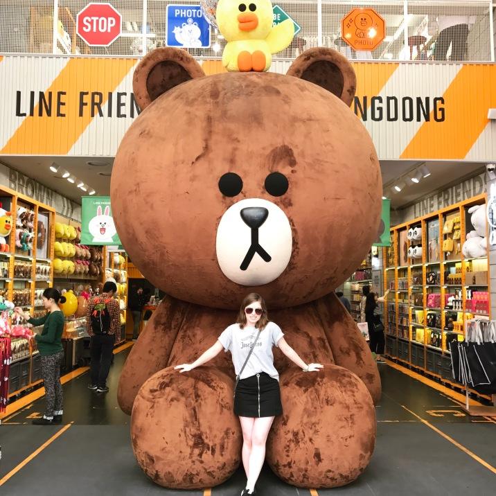Teddy bear in Seoul