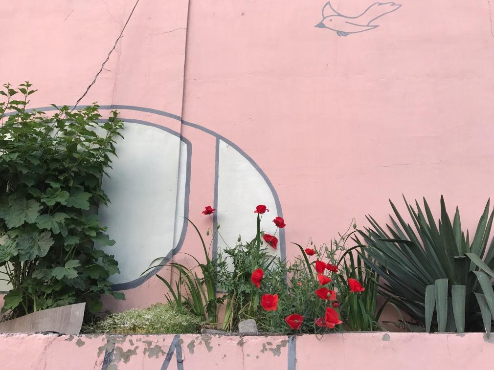 Pink Street Art