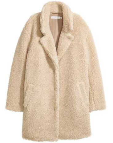 Teddy Coat, Warm and Cozy, Fashion, H&M