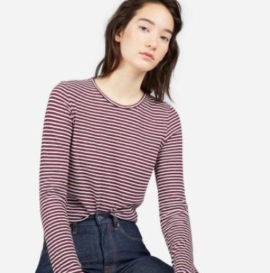 Everlane Slim Cotton Long-Sleeve Crew