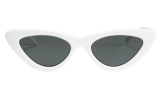Le Specs X Adam Selman The Last Lolita White Cat Eye Sunglasses